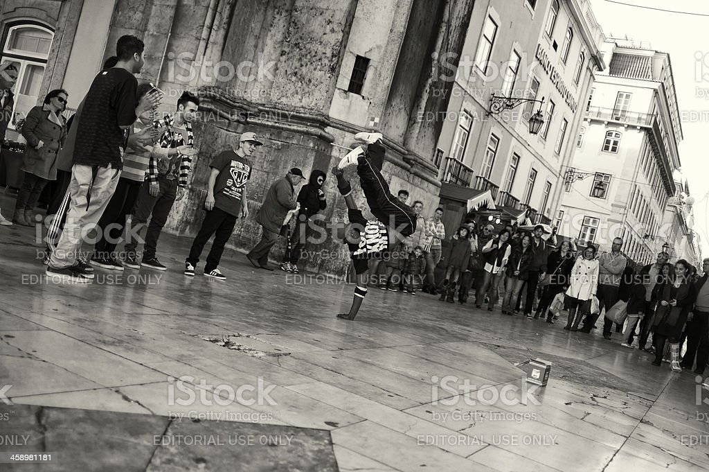 Hip Hop Dancer in Lisbon royalty-free stock photo