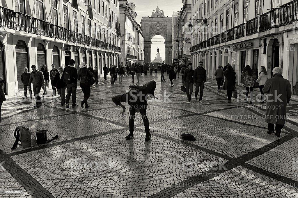 Hip Hop Dancer in Lisbon stock photo