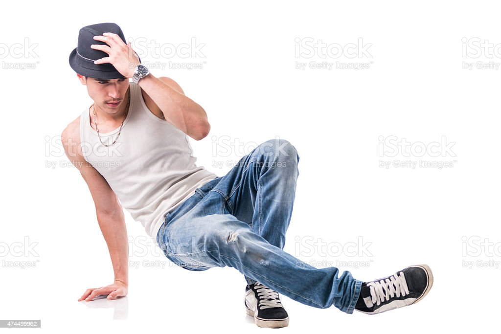 Hip hop dancer showing some movements stock photo