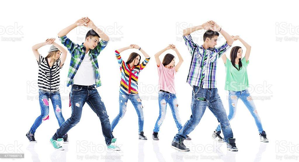 Hip hop dancing. stock photo