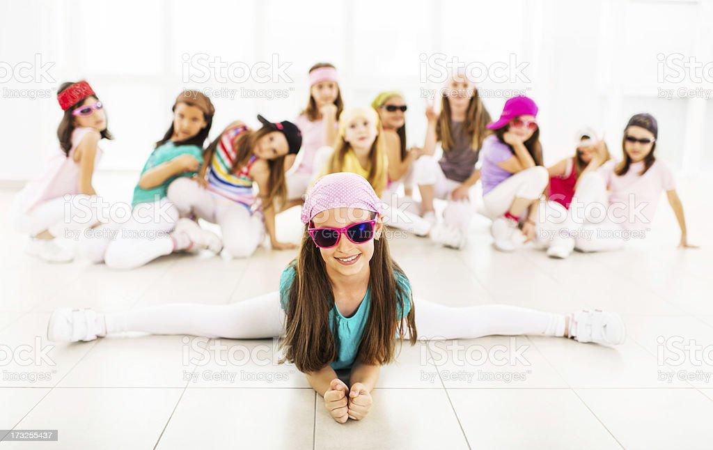 Hip hop little dancers. stock photo