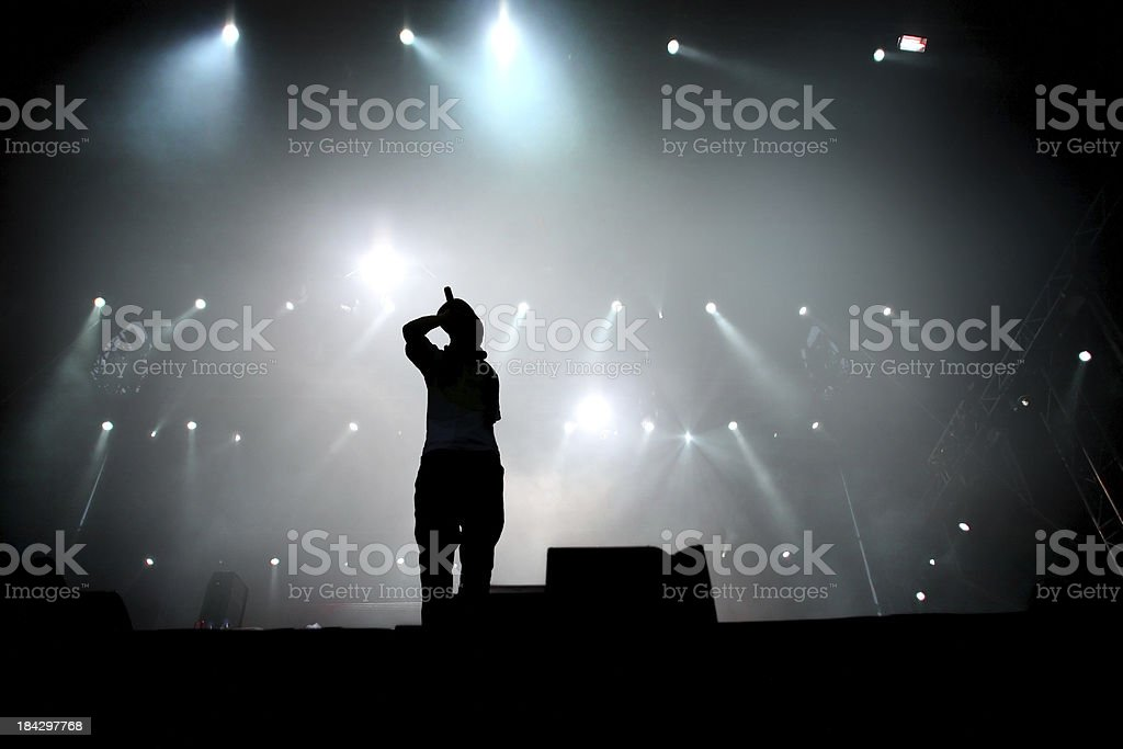Hip hop singer royalty-free stock photo