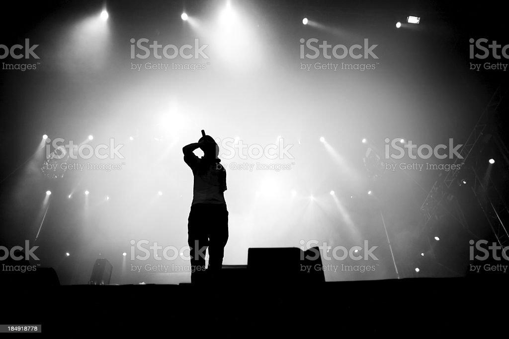Hip hop singer stock photo