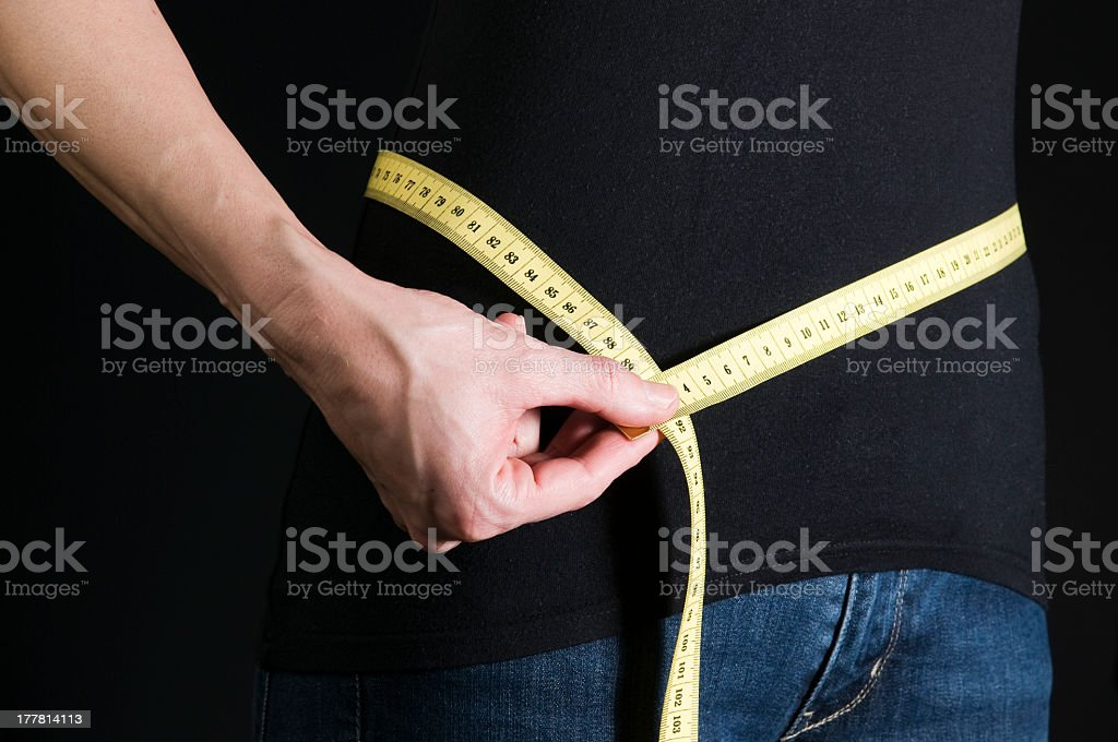 hip measurement royalty-free stock photo