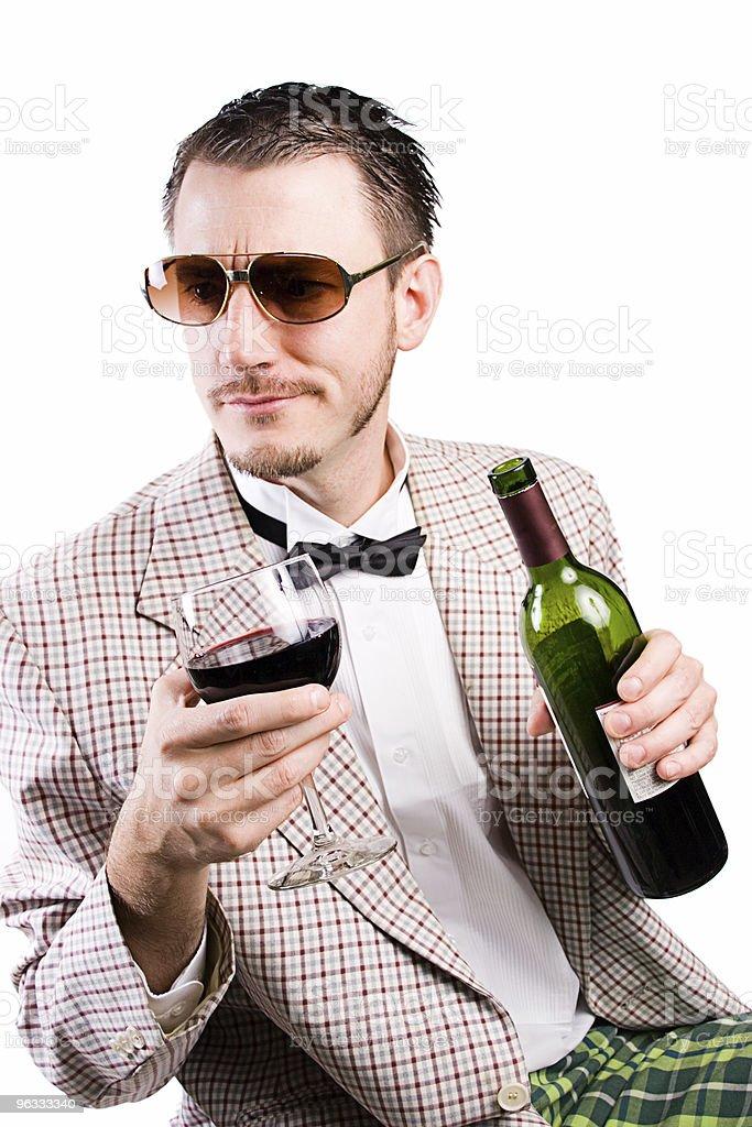 Hip Wino royalty-free stock photo