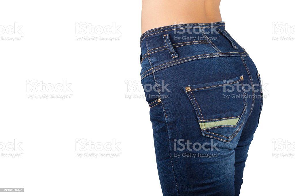 Hip women's contour. stock photo
