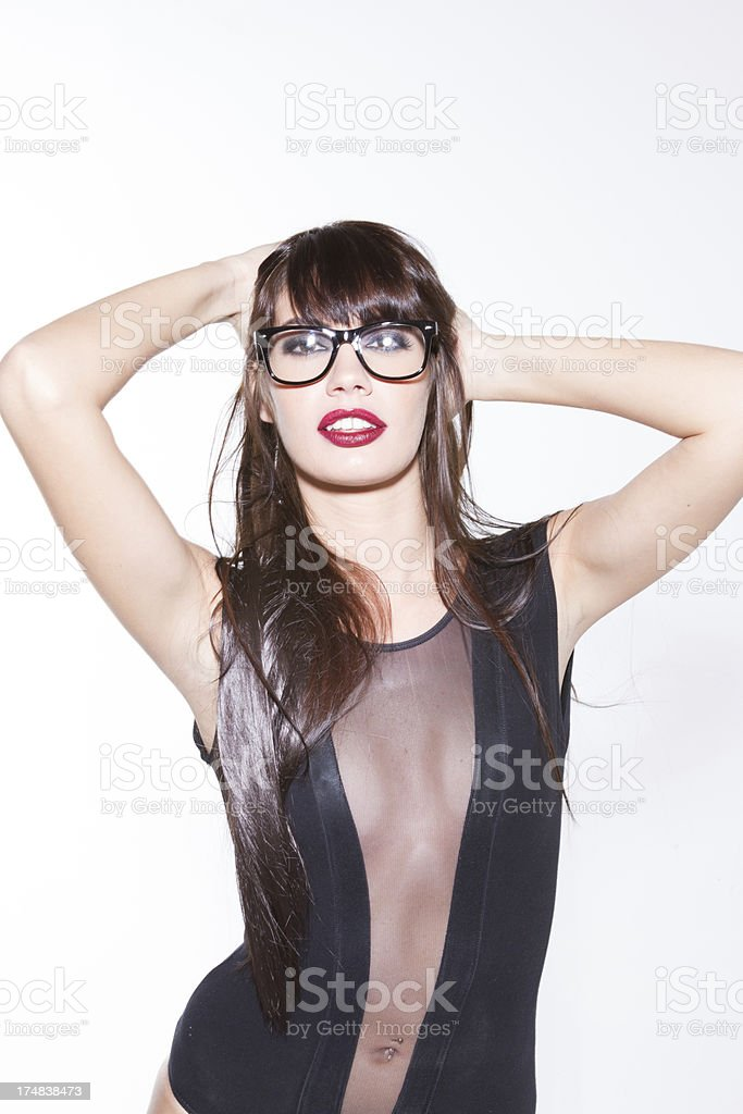 Hip young lady royalty-free stock photo