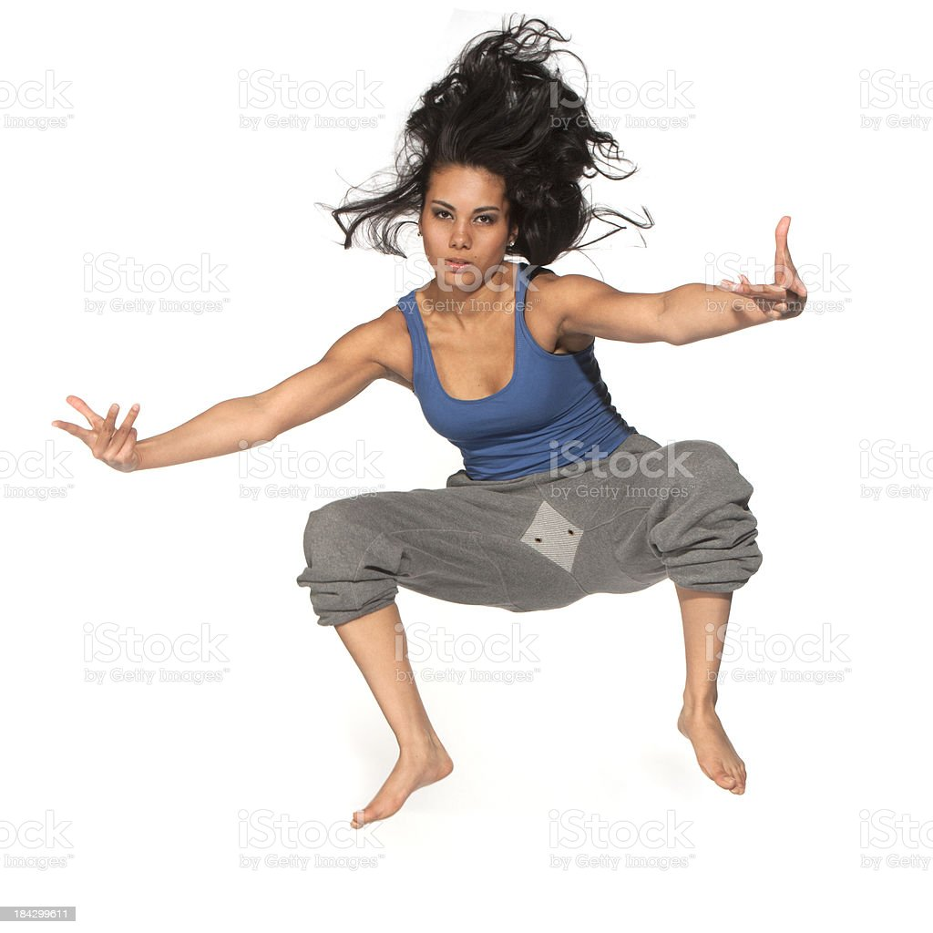 Hiphop action royalty-free stock photo