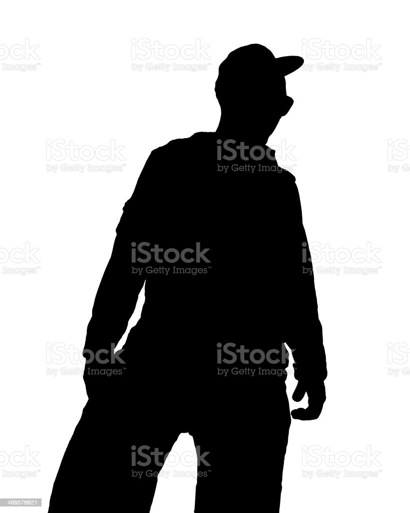 Hiphop Man in black stock photo