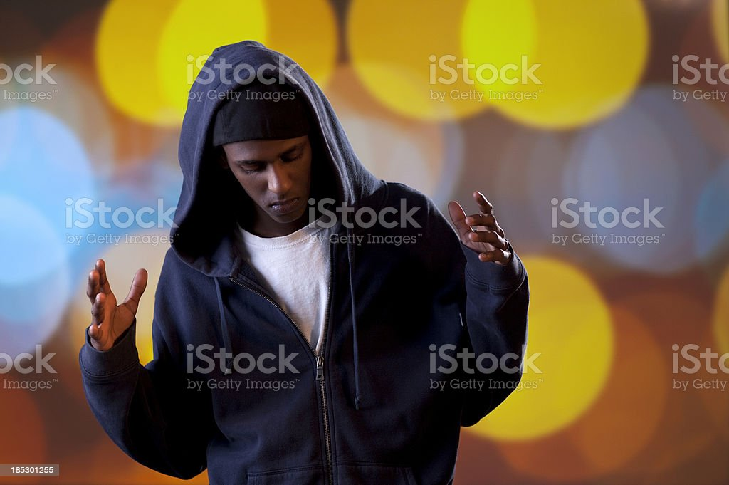 Hip-Hop / Rap dancer. stock photo