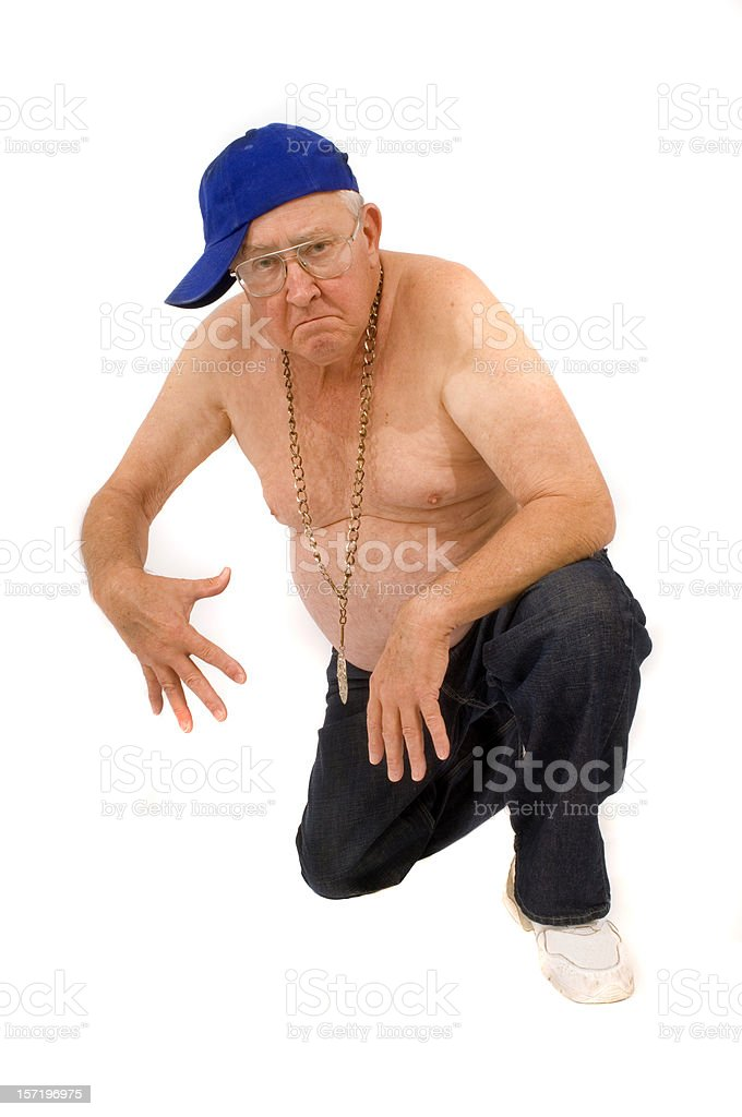 hip-hop retired guy stock photo