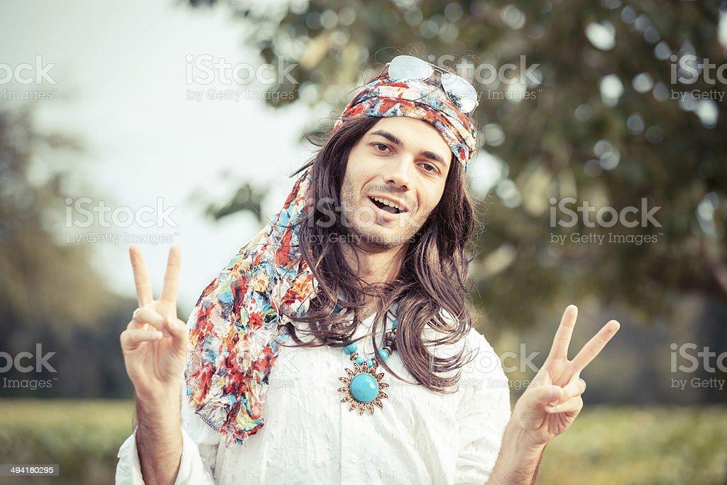 Hippie Portrait stock photo