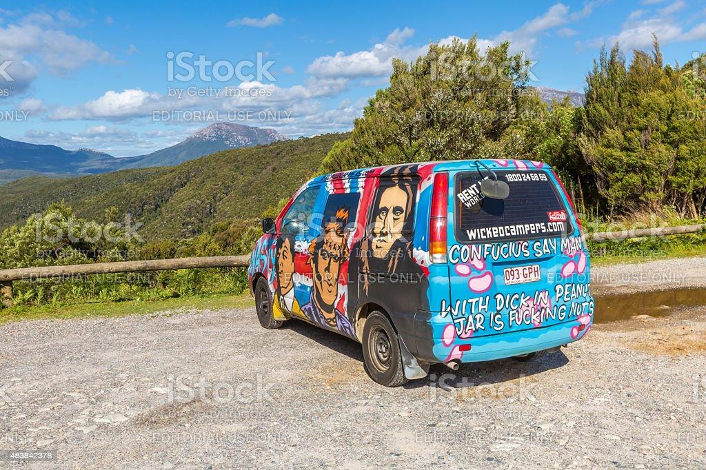 Hippie Van Australia stock photo