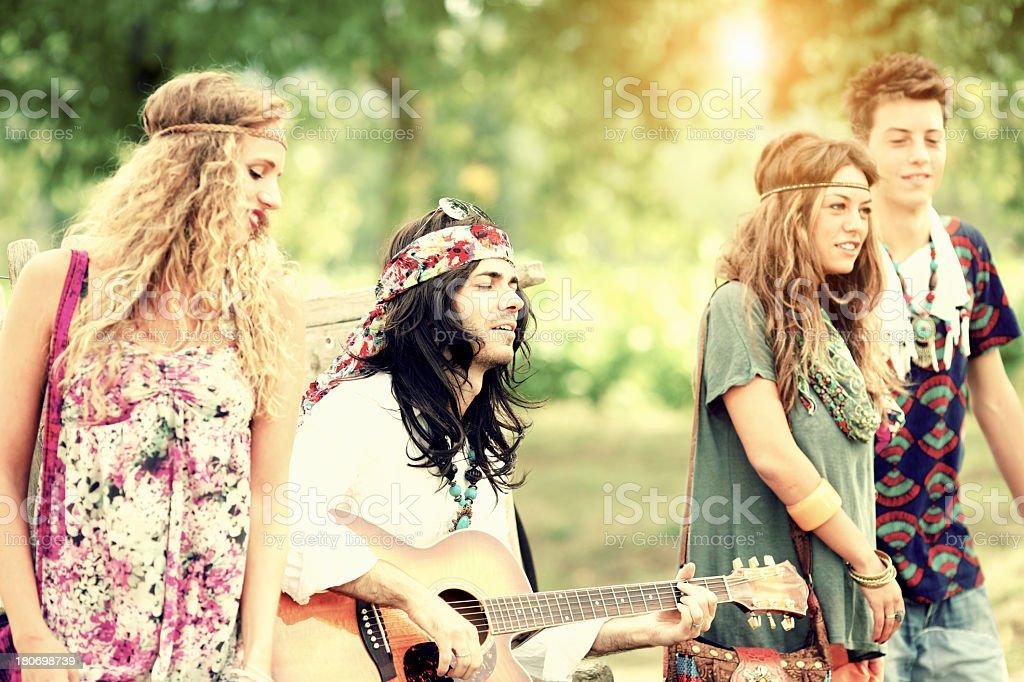 Hippies stock photo