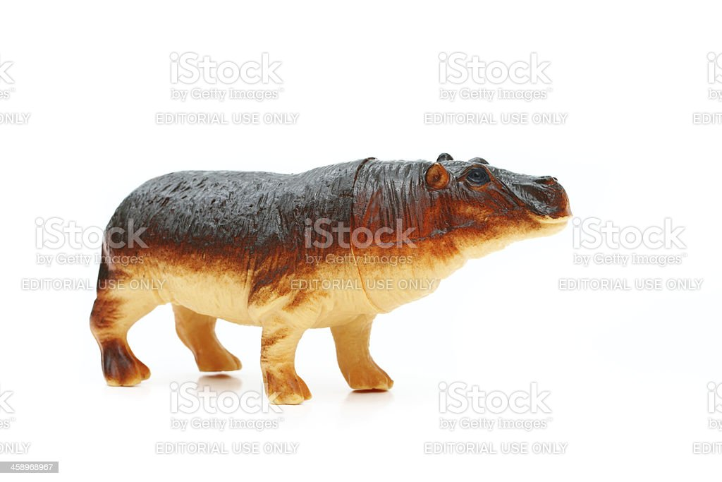 Hippo toy stock photo