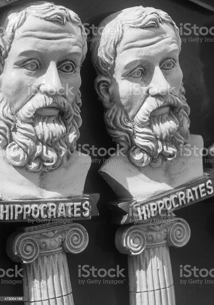 Hippocrates Magnet in Mykonos Town, Greece stock photo