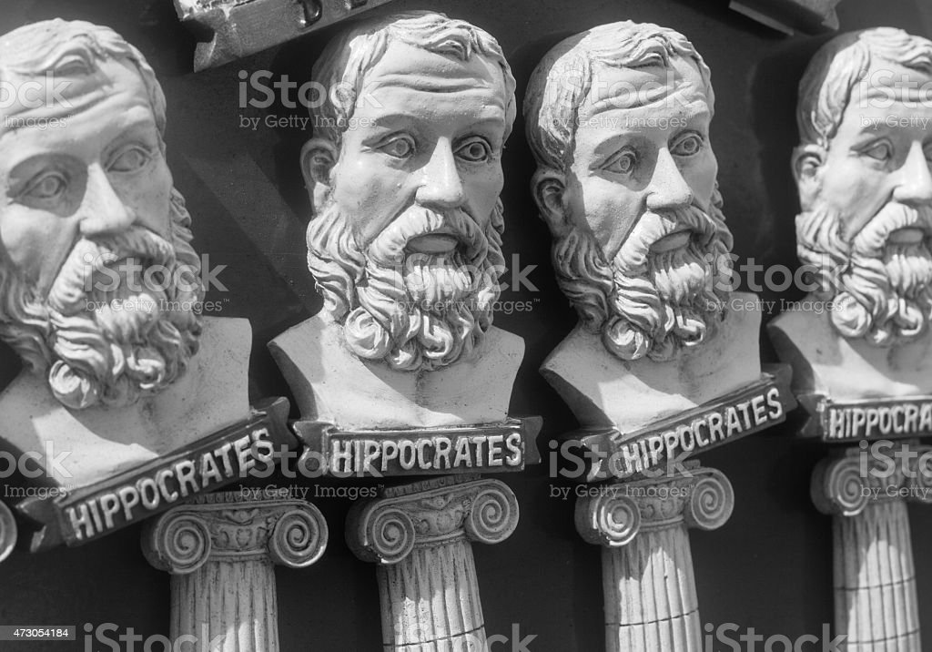 Hippocrates magnets found in Mykonos Town, Greece stock photo