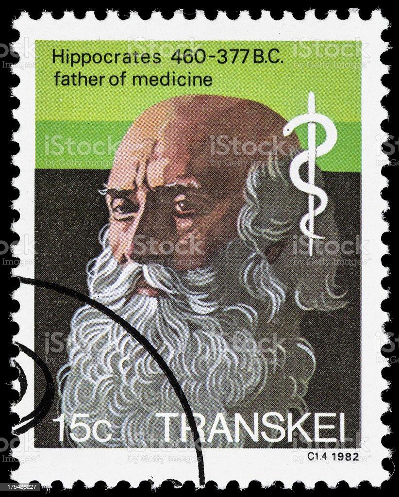 Hippocrates postage stamp stock photo