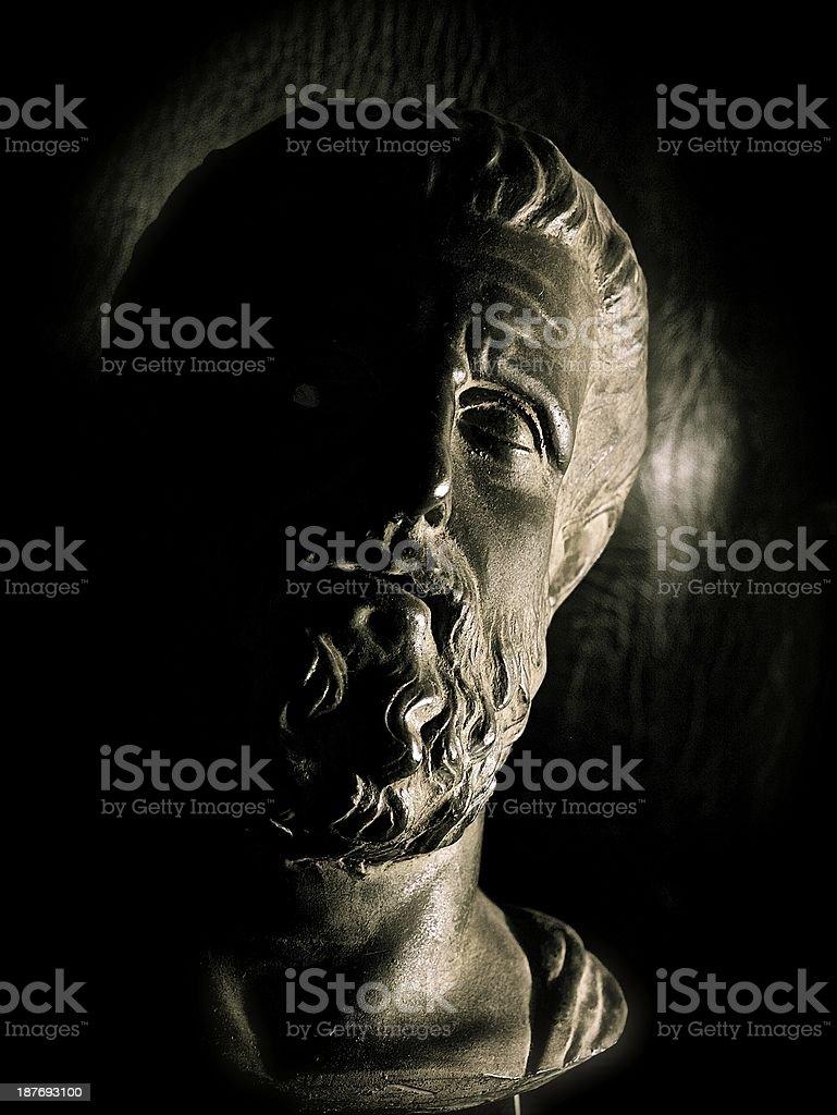 Hippocrates sculpture stock photo