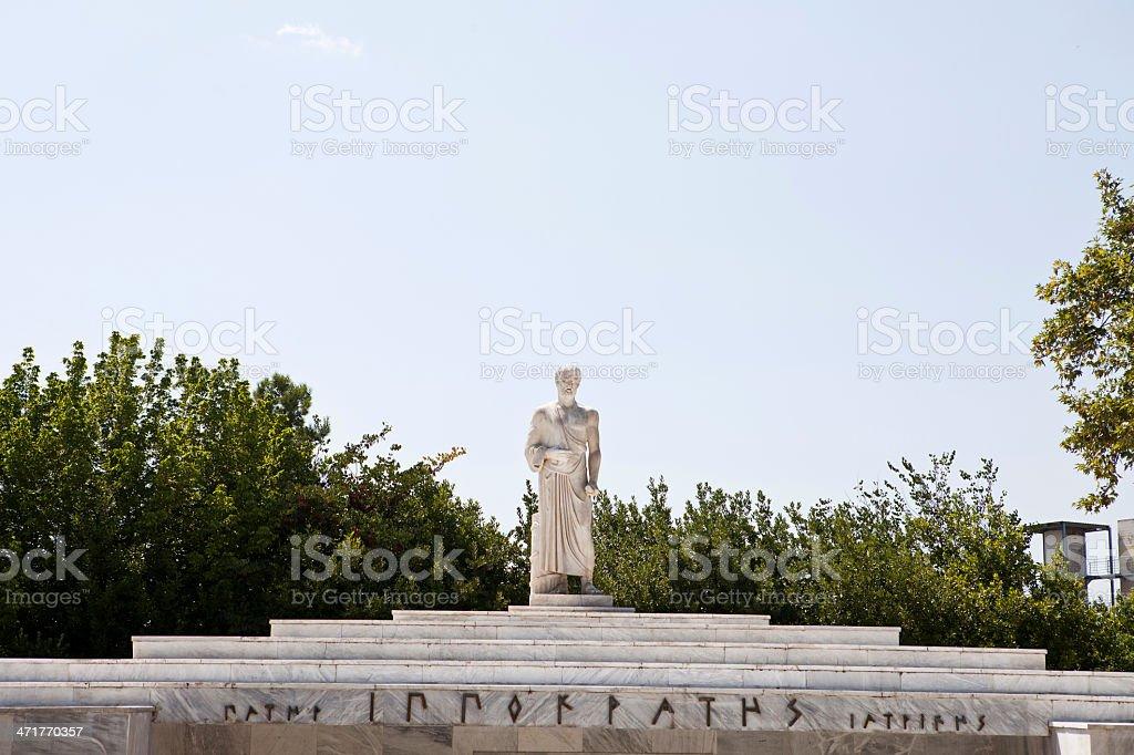 Hippocrates Statue stock photo