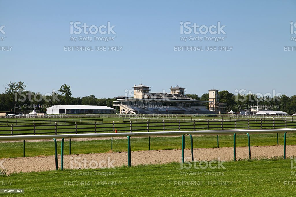 Hippodrome de Chantilly stock photo