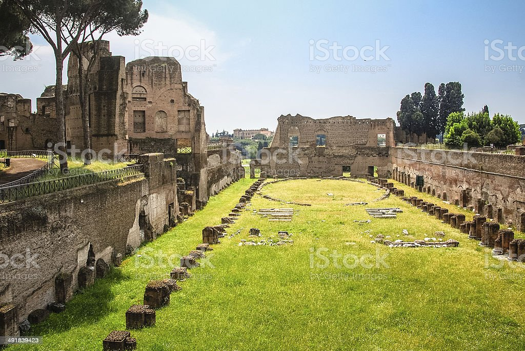 Hippodrome of Domitian stock photo