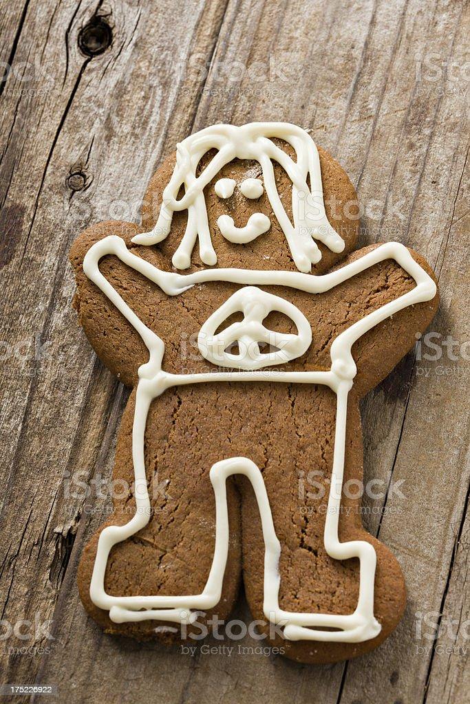 Hippy Gingerbread Man royalty-free stock photo