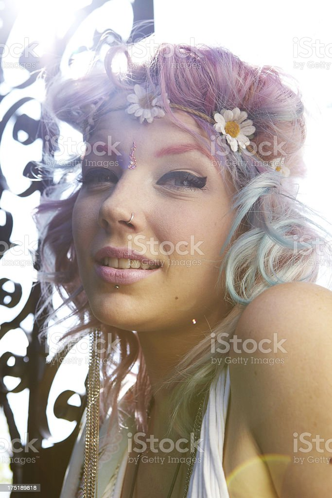 Hippy Girl in the Sun royalty-free stock photo