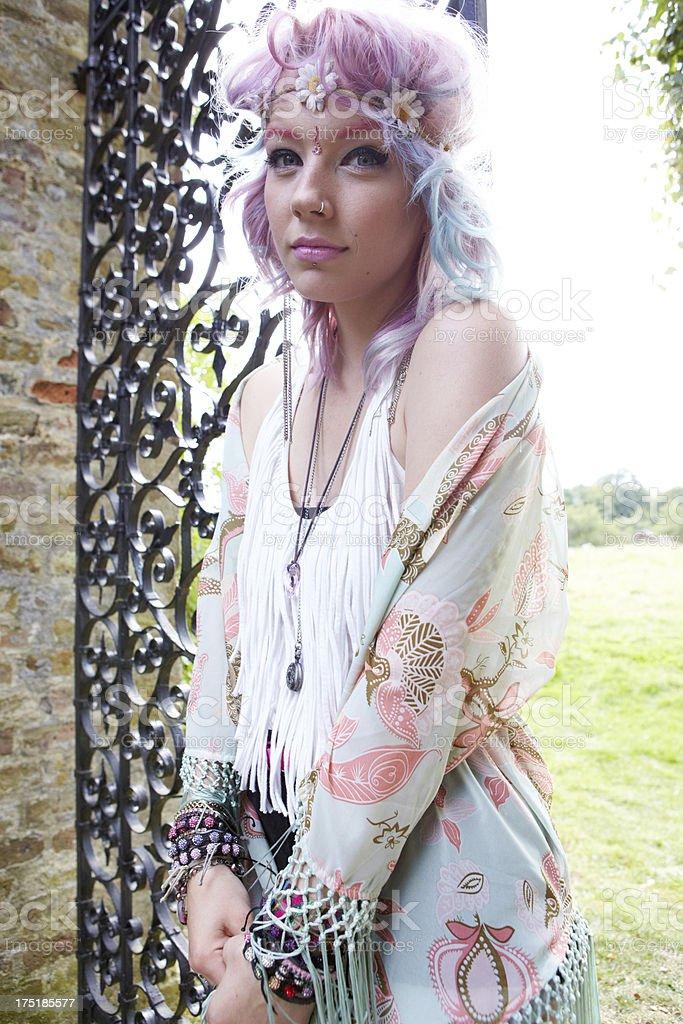 Hippy Girl royalty-free stock photo