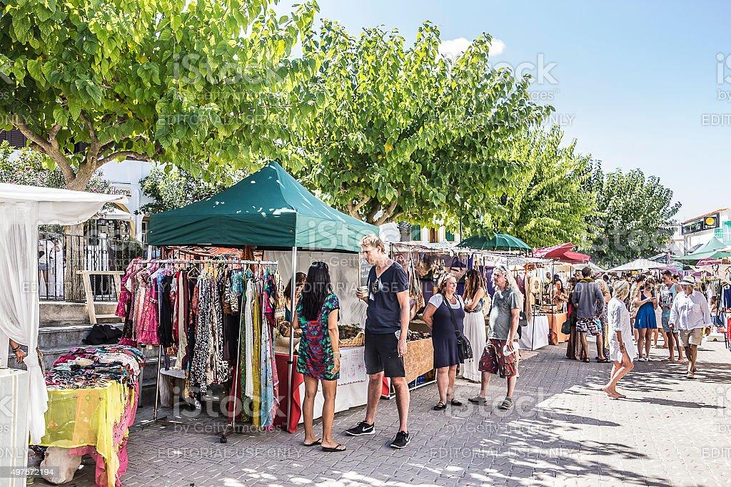 hippy market stock photo