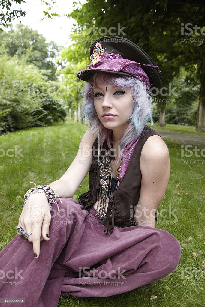 Hippy student hanging out royalty-free stock photo