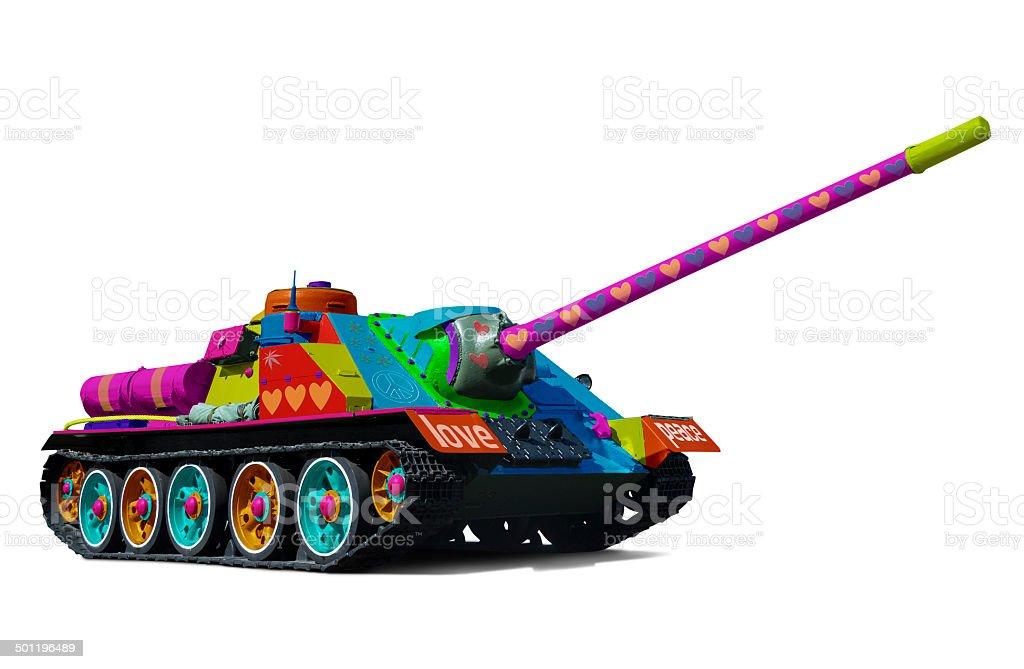 Hippy tank stock photo