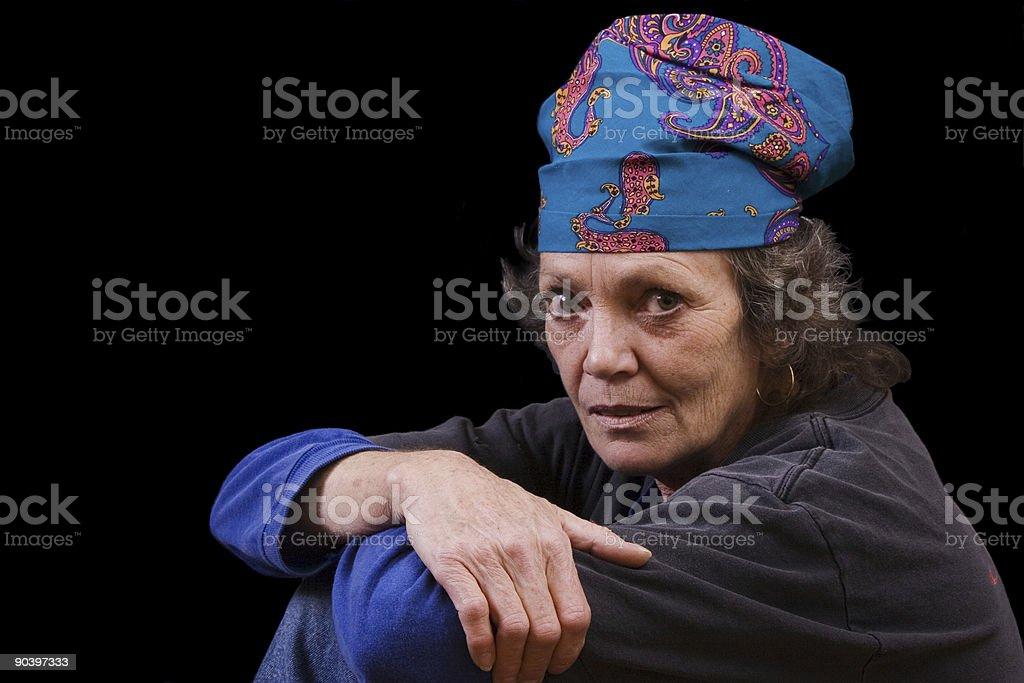 Hippy woman royalty-free stock photo