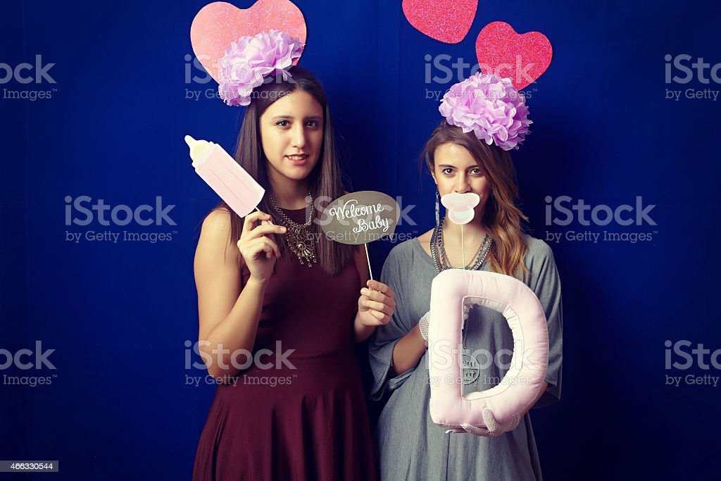 Hipster baby shower party stock photo