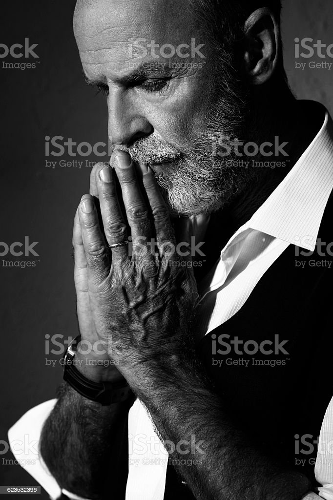 Hipster Bearded lumbersexual   Attitude senior men    Individuality  portrait stock photo