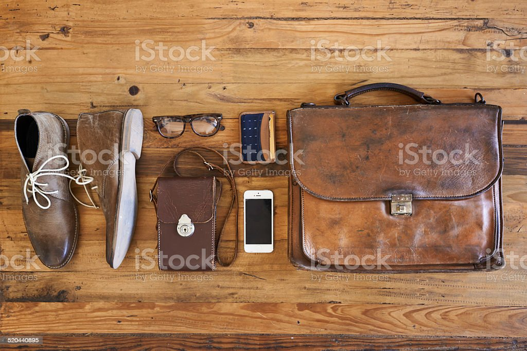 Hipster business kit stock photo