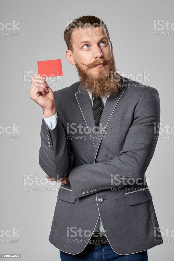 Hipster business man stock photo