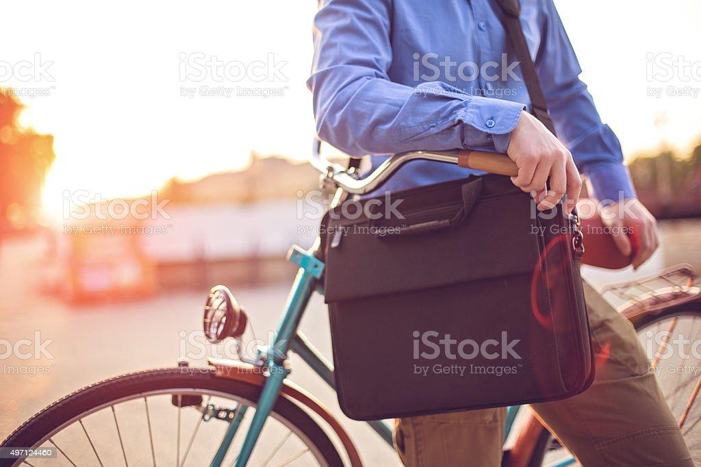Hipster businessman stock photo
