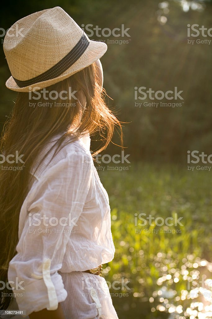 Hipster Country Girl 2 royalty-free stock photo