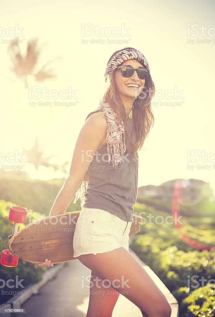 Hipster girl royalty-free stock photo