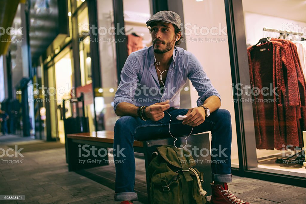 Hipster humming stock photo