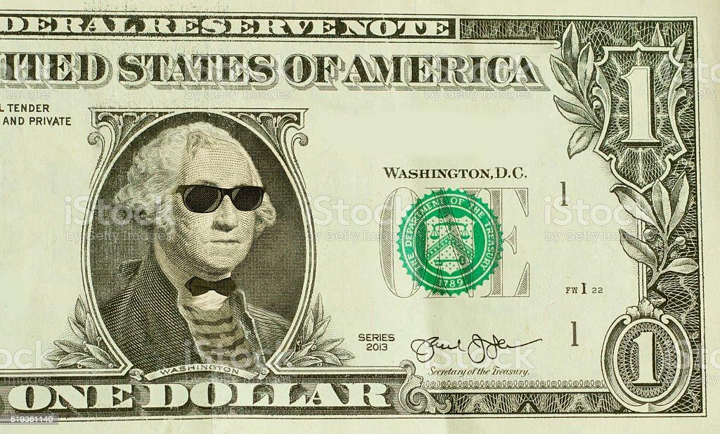 Hipster Nerd George Washington stock photo