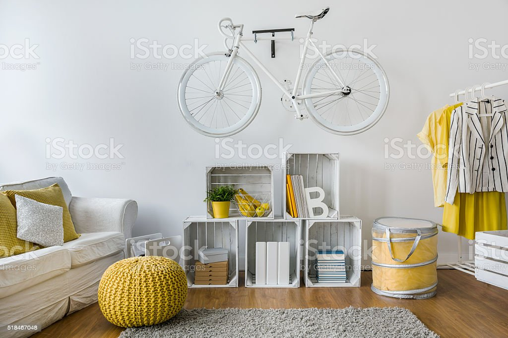 Hipster room decor stock photo