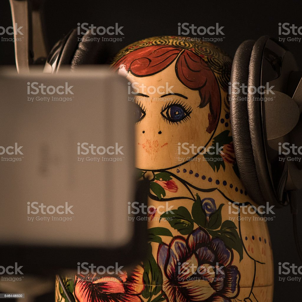 Hipster Russian Doll stock photo