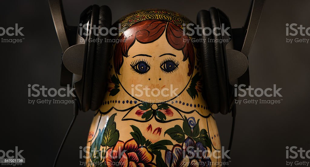 Hipster Russian Nesting Doll stock photo