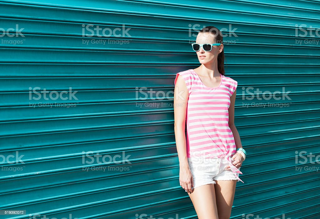 Hipster street style stock photo
