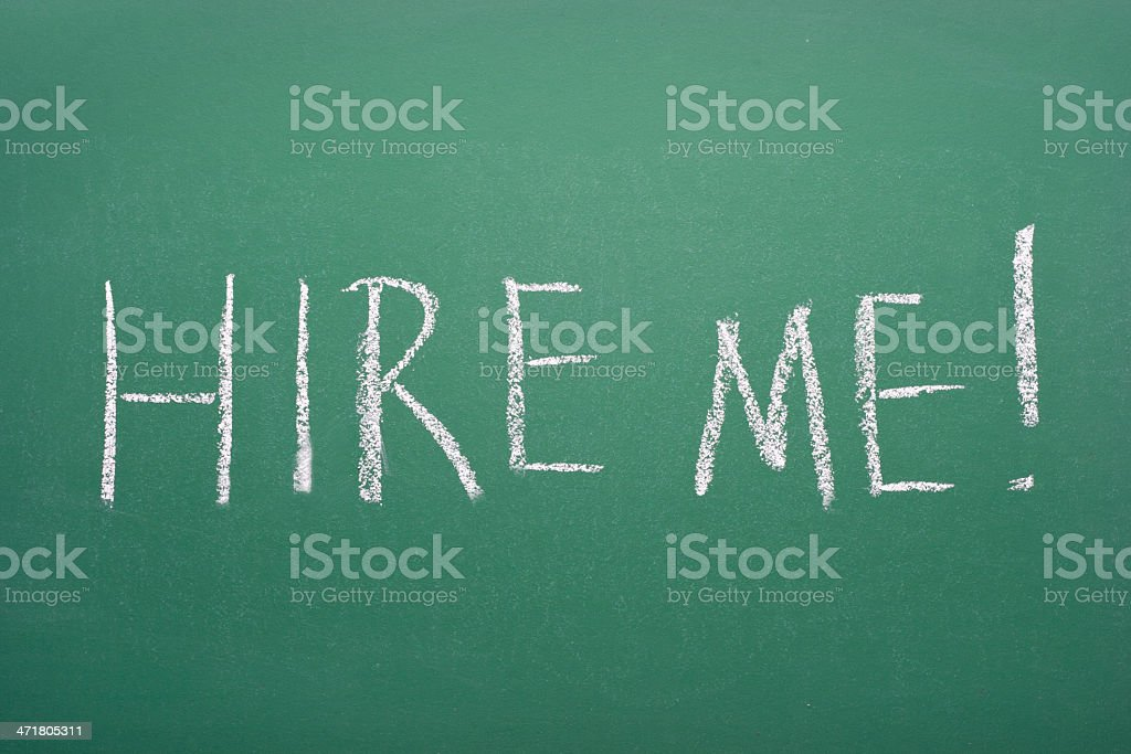 Hire me! royalty-free stock photo