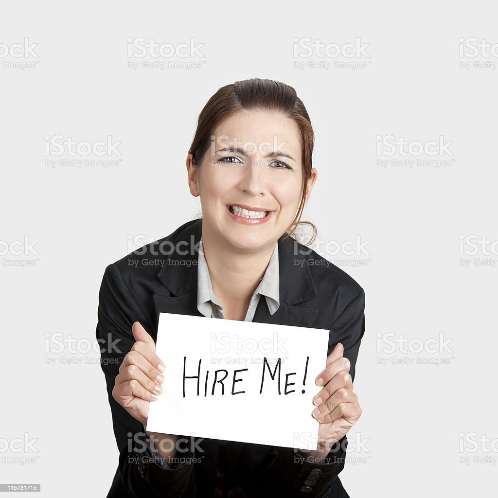 Hire me please!!! royalty-free stock photo