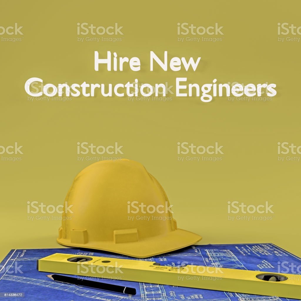 Hire new Construction Engineers stock photo