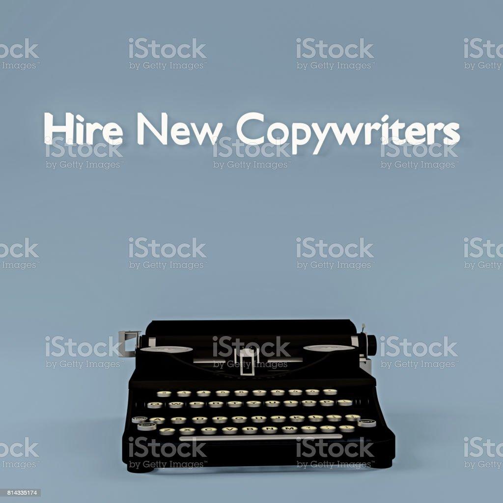 hire new copywriters stock photo